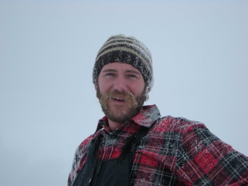 Frozen Beard and Moustache in the Snow. Bayfield, CO. Dec 2008