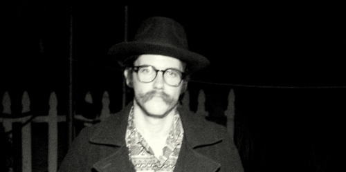 Dressed as Richard Brautigan on Halloween. San Diego, CA. October 2008