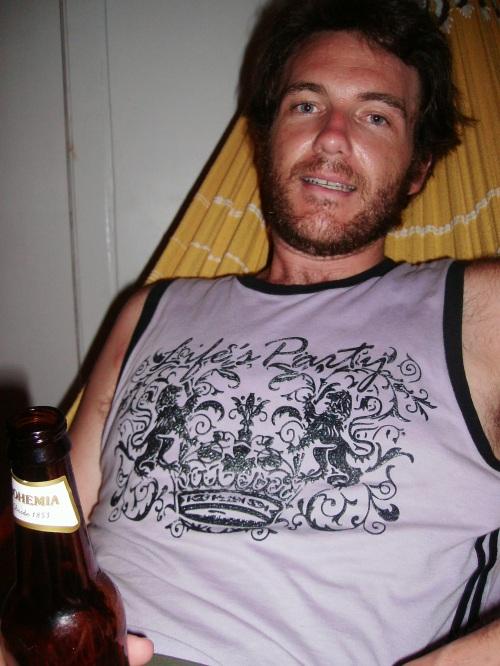 Hammock, Beer and Beard. Salvador, Brazil