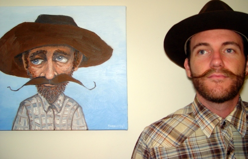 With my Christmas Present from Kinsee. Painting by Ryan Tannascoli. Jan 2009